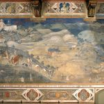 Ambrogio Lorenzetti, Effects of Good Government in the City and the Countryside, 1338 – 1339, Sala della Pace, Meeting Room of the Nine, Palazzo Pubblico, Siena.