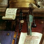 Ghirlandaio, St Jerome in his Study, detail, fresco, 1480, Ognissanti, Florence.