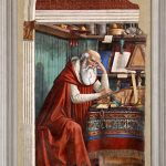 Ghirlandaio, St Jerome in his Study, fresco, 1480, Ognissanti, Florence.