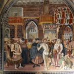 Domenico di Bartolo, The Reception of Pilgrims and Distribution of Alms, 1440-41, Santa Maria della Scala, Siena