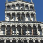 San Michele in Foro, built over ancient Roman forum, rebuilt after 1070, façade 13th C, Lucca